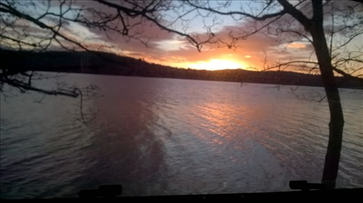 Sunrise over Lake Windermere.