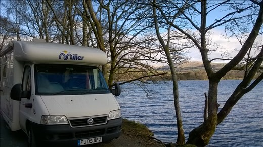 The 'beast' (our motorhome) at the Lake District stopover
