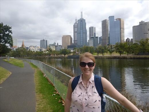 Melbourne fron Yarra river