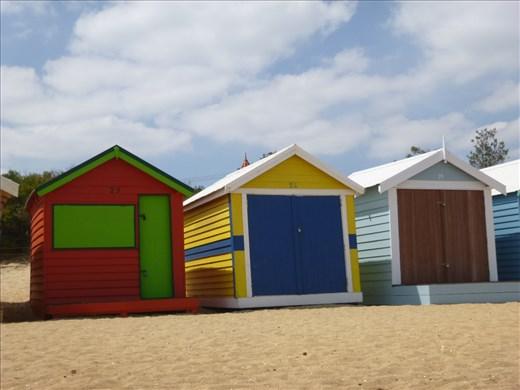 cool beach huts
