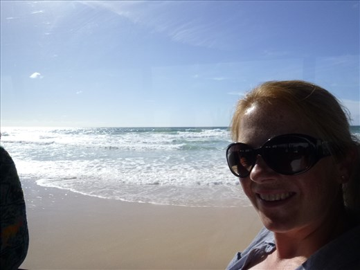 view from the 4WD bus on Fraser island