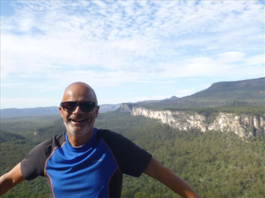 worth the climb for the stunning views (of Mark and the landscape!)