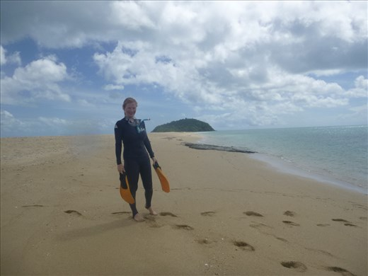 very fetching stinger suit!! and lovely beach
