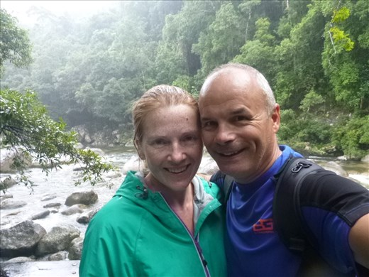 Very wet at Mossman Gorge