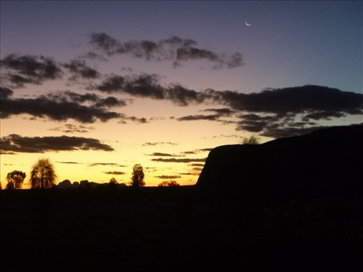 sunset sky and Uluru