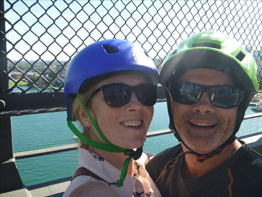 cycling over harbour bridge