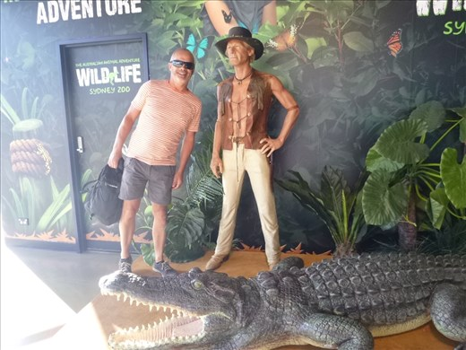 Mark and Crocodile Dundee, can you spot the dummy??