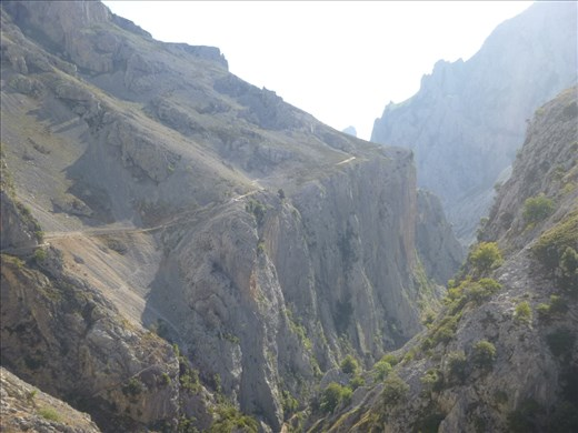 the final ascent of the gorge - tough climb!