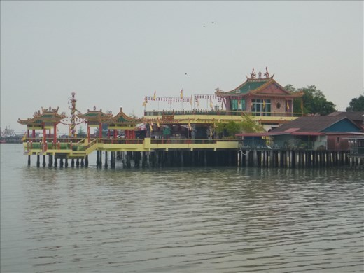Chinese temple on fishing jetty