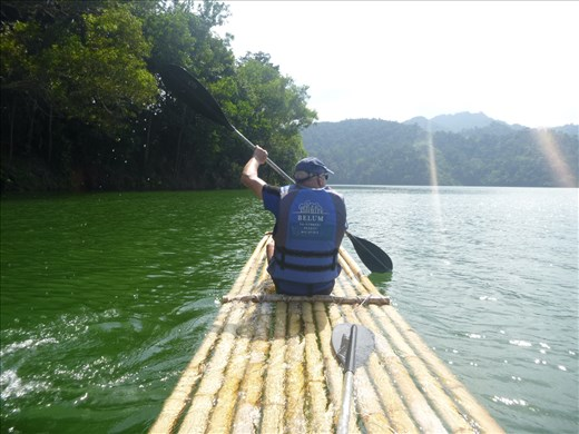 rafting on bamboo raft