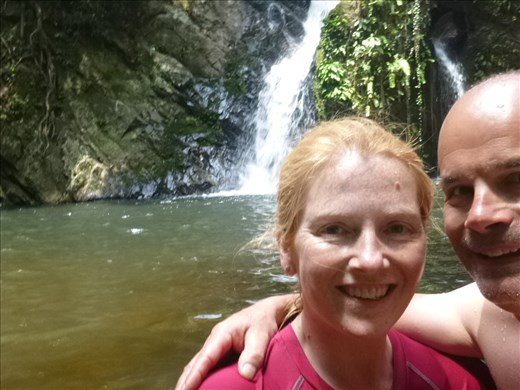 me and a bit of mark at the waterfalls