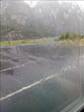 the waterfall running off the motorhome roof!: by dawnandmark, Views[288]