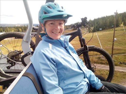 Me and The destroyer (my bike!) on the chairlift