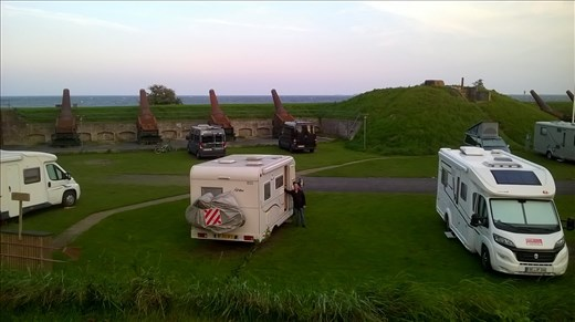 Our fantastic fortress campsite