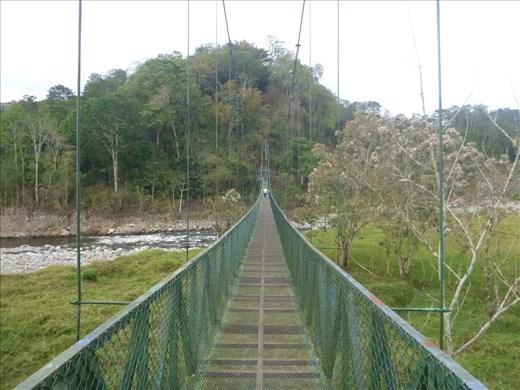 Me on long hanging bridge