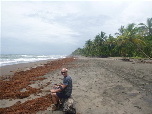 Having a rest on the beach
