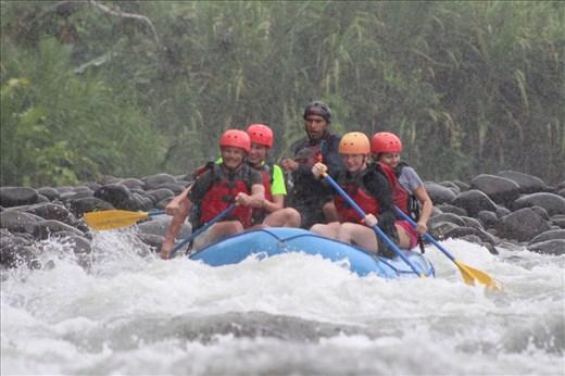 Enjoying rafting, me and mark at front