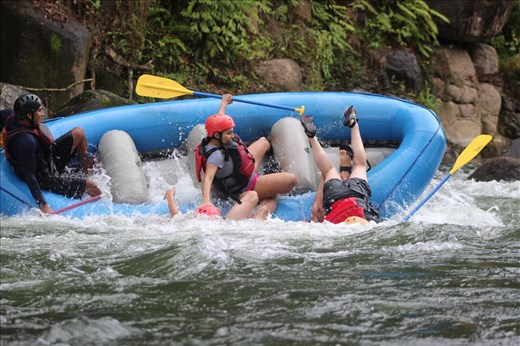 Not enjoying rafting!!