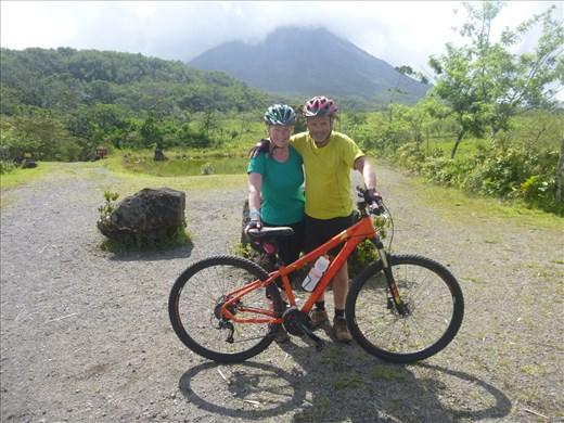 biking at Arenal