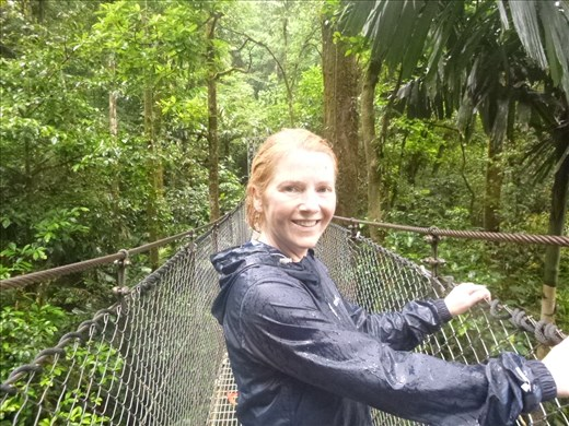 very wet at the hanging bridges