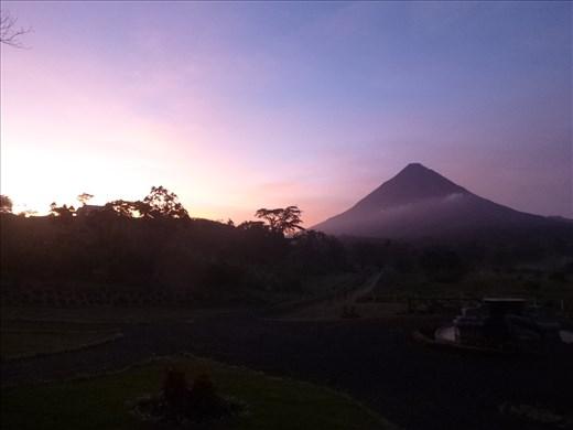 Goodbye arenal, sunrise on last morning
