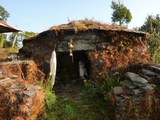 Famous ancient Hindu temple at top of Panchase