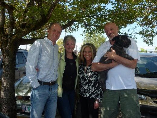 With Terry, Dave & Wonder Dog Nitro in Lake Oswego, OR