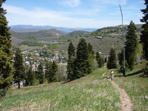 Hiking on the ski hill above Park City