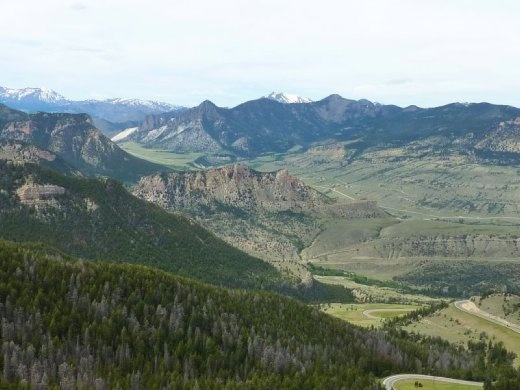 View from Chief Joseph Highway in Wyoming