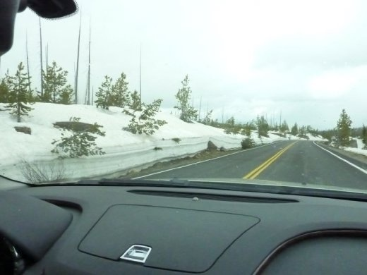 Entering Yellowstone in the middle of May!