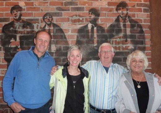 With Tom & Sharon Fortin @ The Rock pizza house in Lynnwood, WA