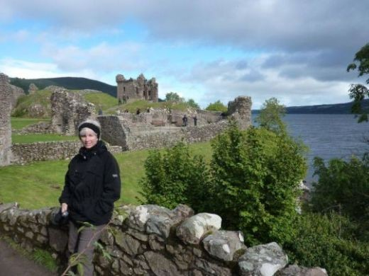 Looking for Nessie from Urquhart Castle, Loch Ness