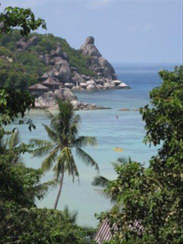 Vistas desde mi bungalow en Koh Tao!!!! jeje