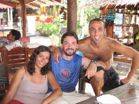 En el Dive Shop con Adnan y Lauriane