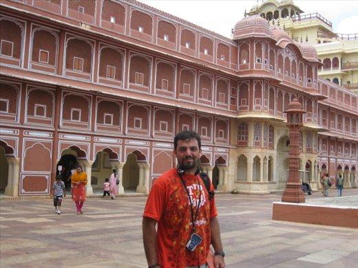 El Palacio Real de Jaipur, con su característico color rosa... por algo la llaman la ciudad rosa...