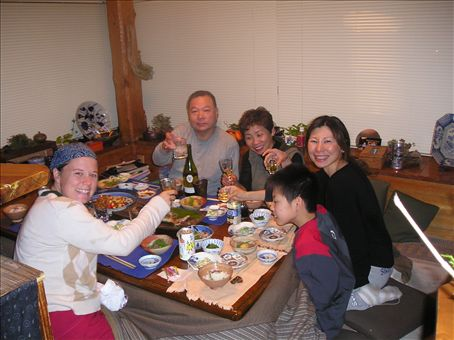 Birthday dinner at the Kimura's!