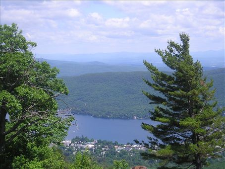 View from Mt. Prospect looking down onto Lake George