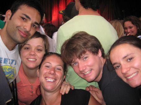 Aussie buds at Arcade Fire.