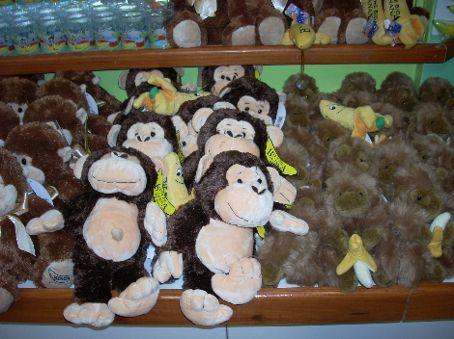 Monkeys at the big banana.