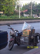 The Thais are ingenious when it comes to vehicles - there's lots of uses for a motorbike and sidecar we never knew about!: by deena_and_gary, Views[211]