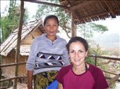 Deena with 'Mama' at our first guesthouse in Mong Ngoi: by deena_and_gary, Views[273]