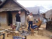 the morning after around the campfire in Khmu village: by deena_and_gary, Views[310]