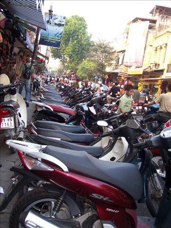 Motorbikes everywhere (more bikes than people in Hanoi)
