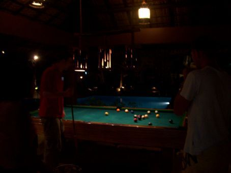 Gary played pool all night long