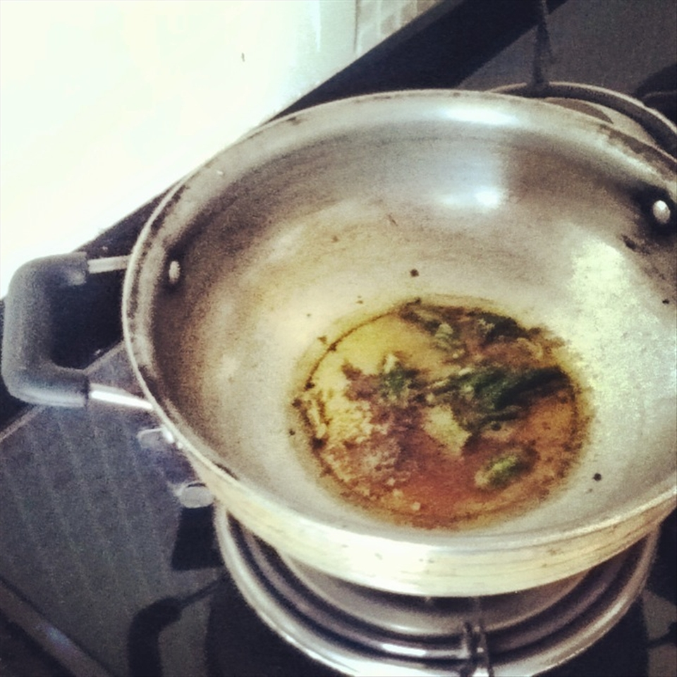 Hiss and Crackle: Cumin seeds, asafoetida, turmeric and green chilies