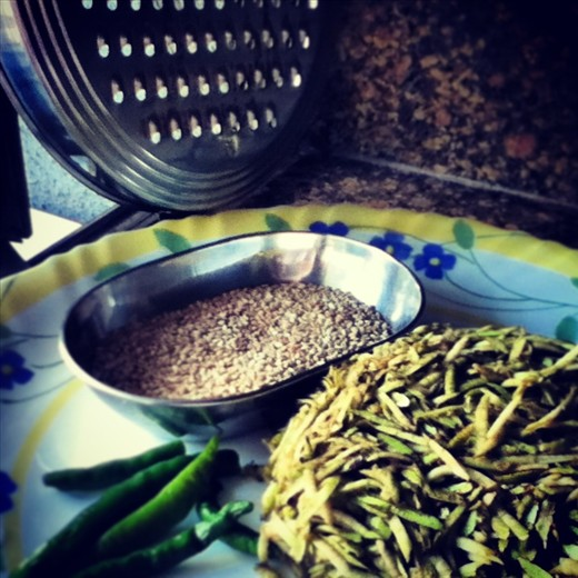 Key Ingredients: Chilies, Sesame Seeds, Grated Bottle Gourd Skin