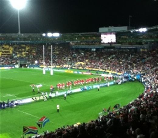 Wales Enter Wellington Stadium