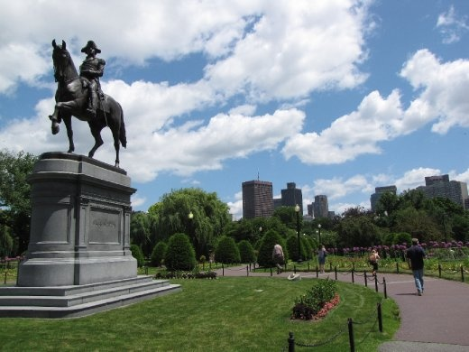 George Washington statue in Public Gardens