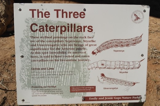 The Three Caterpillars Rock Art