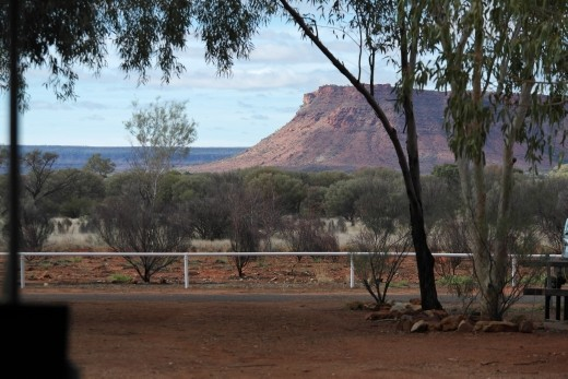 View from campsite across to Kings Canyon
